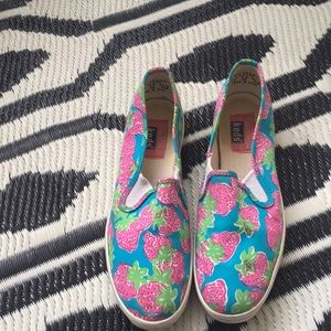 735fbbb1486da0 Lilly Pulitzer Shoes - Lilly Pulitzer x Keds strawberry slip in sneakers